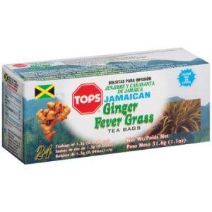 Tops – Jamaican Ginger & Fever Grass (24 Pack)